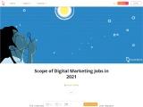 Scope of Digital Marketing Jobs in 2021