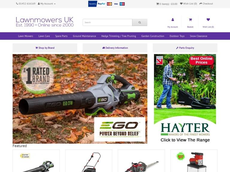 Lawn Mowers UK screenshot