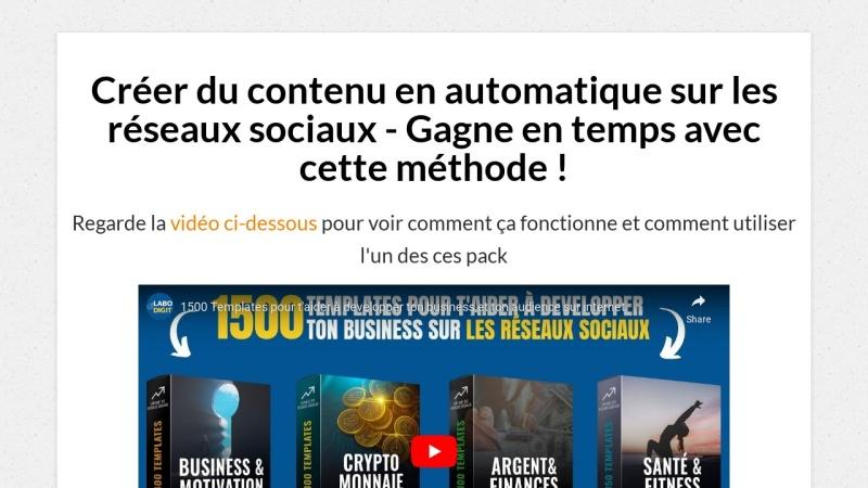 1500 templates pour exploser tes reseaux sociaux