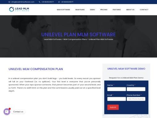 Unilevel MLM Plan – LEAD MLM SOFTWARE