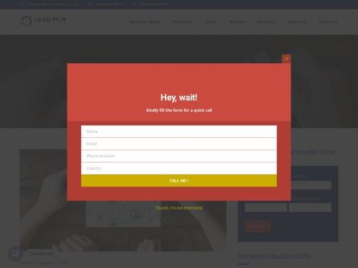 Multi Level Marketing – LEAD MLM SOFTWARE