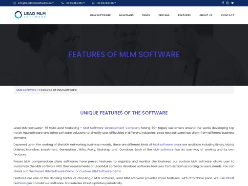 Features MLM Software – LEAD MLM SOFTWARE