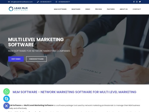 LEAD MLM SOFTWARE :THE BEST MLM SOFTWARE
