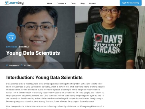 YOUNG DATA SCIENTISTS   DATA SCIENCE CERTIFICATION