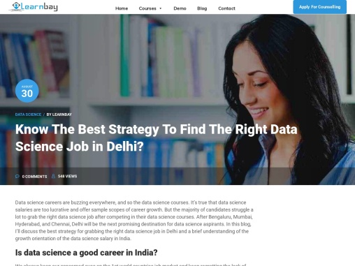 Know The Best Strategy To Find The Right Data Science Job in Delhi?