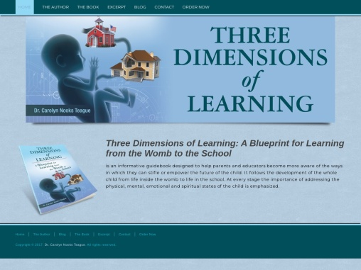 Three Dimensions of Learning by Dr. Carolyn Nooks Teague