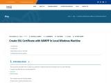 Create SSL Certificate with XAMPP in Local Windows Machine