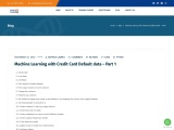 Machine Learning with Credit Card Default data – Part 1