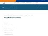 Printing Multi-dimensional Arrays in Java Discusses