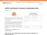 CSPO Certification Training In Hyderabad India