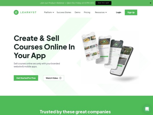 Create & Sell Courses From Your Own Website