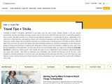 Travel Tips And Tricks | Trip Planner | Best Leisure Travel Tips