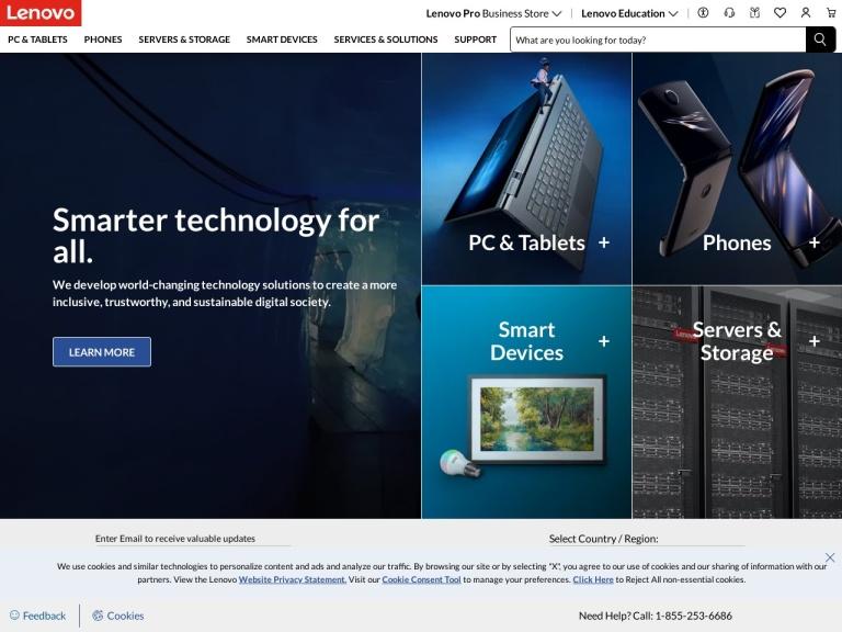 Lenovo (International) screenshot