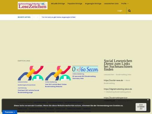 Lesezeichen artikel Suchmaschinen schnell finden Bookmarking
