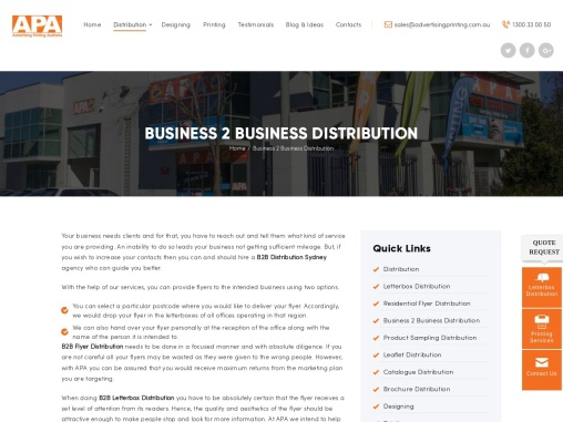 B2B Distribution Sydney – B2B Flyer Distribution – Letterbox 2 Letterbox