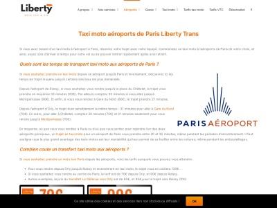 Taxi-moto VTC Liberty Trans