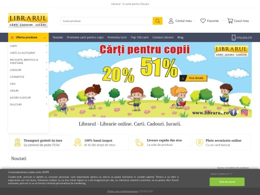 Online library from Bucharest Librarul.ro