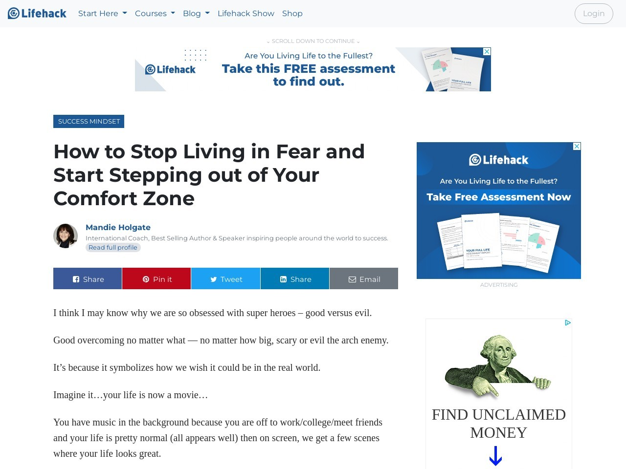 How to Stop Living in Fear and Start Stepping out of Your Comfort Zone