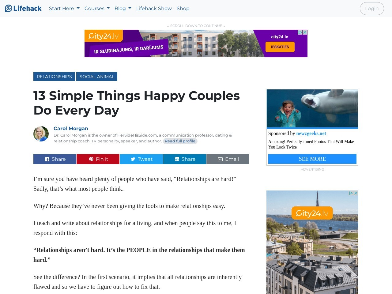 13 Simple Things Happy Couples Do Every Day