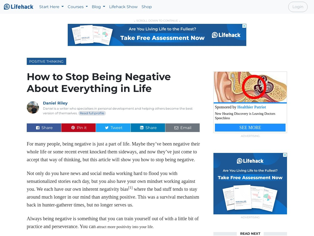 How to Stop Being Negative About Everything in Life