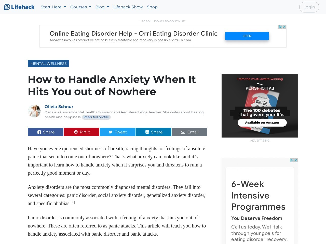 How to Handle Anxiety When It Hits You out of Nowhere