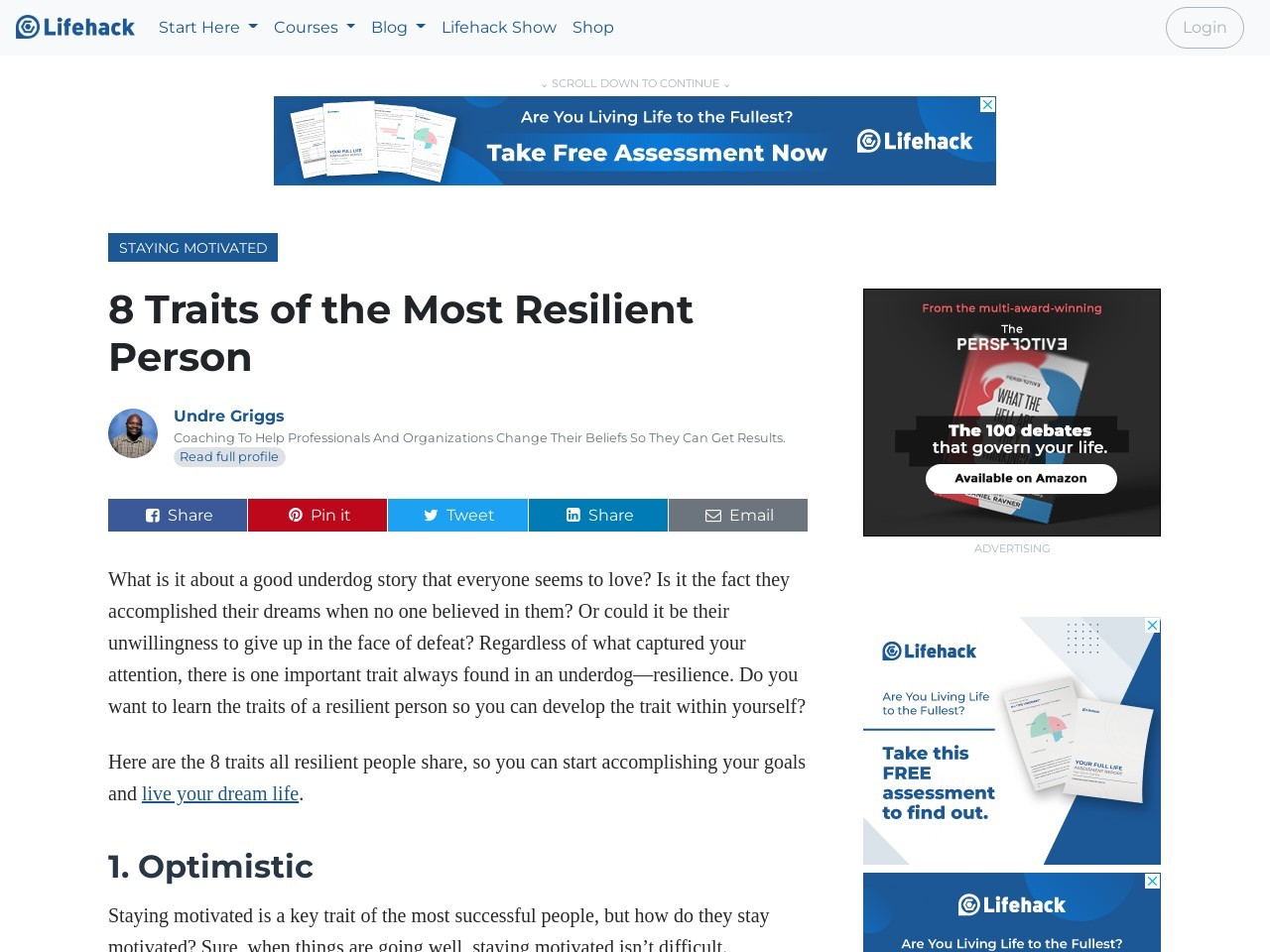 8 Traits of the Most Resilient Person
