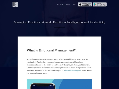 Managing Emotions at Work: Emotional Intelligence and Productivity
