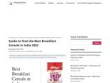 Best Breakfast cereals in India