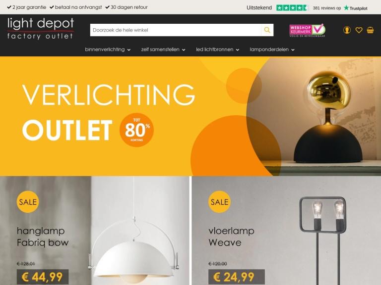 Lightdepot.nl screenshot