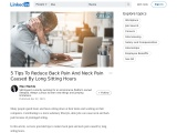 5 Tips To Reduce Back Pain And Neck Pain Caused By Long Sitting Hours