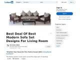 Best Deal Of Best Modern Sofa Set Designs For Living Room