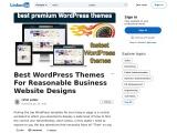 Best WordPress Themes For Reasonable Business Website Designs
