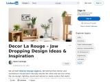 Best Interior Design Agency – Decor La Rouge | Linkdin