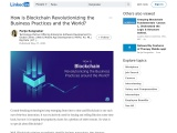 How Blockchain business applications are Contributing to a Better World!