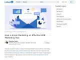 How is Email Marketing an Effective B2B Marketing Tool