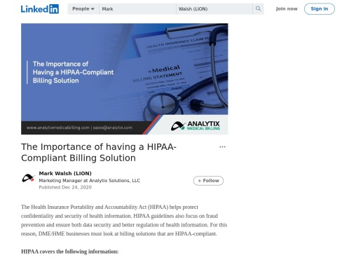 The Importance of having a HIPAA-Compliant Billing Solution