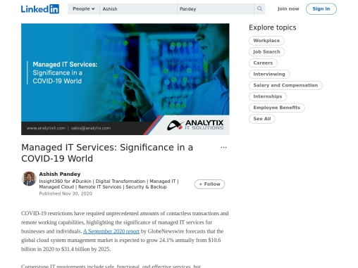 Managed IT Services: Significance in a COVID-19 World