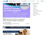 MBBS Admission Criteria in Russia for Indian Students-Twinkle InstituteAB