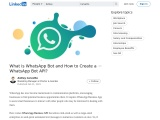 What is WhatsApp Bot and How to Create a WhatsApp Bot API?