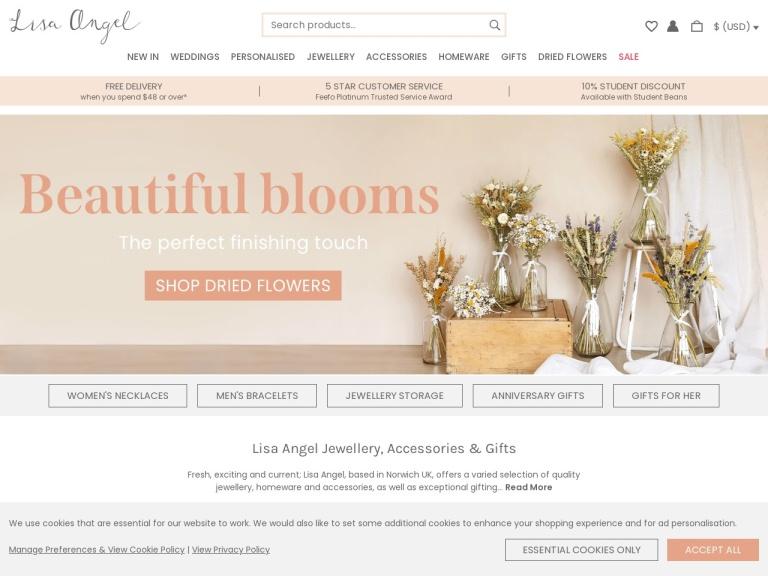 Lisa Angel Discount Code screenshot