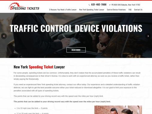 Speeding Ticket Defense Attorney, Traffic Ticket Attorney at Nassau County