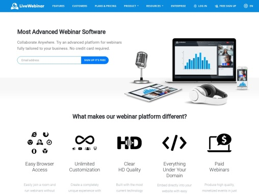 Live Streaming Software – LiveWebinar