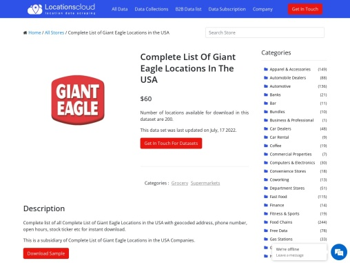 Complete List Of Giant Eagle Locations In The USA