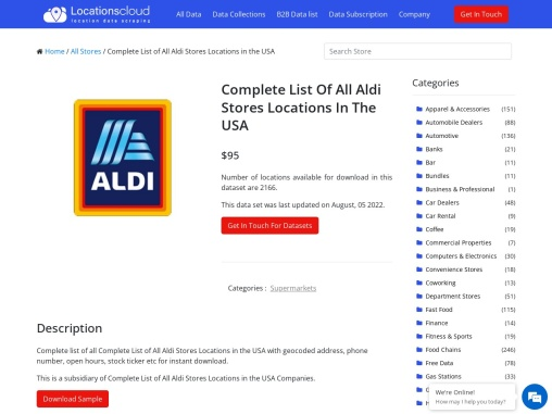 Complete List Of Aldi Stores Locations In The USA