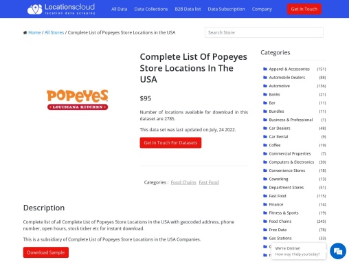 Complete List Of Popeyes Store Locations In The USA
