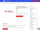Complete List Of Tim Hortons Locations In The USA