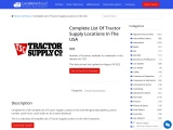 Complete List Of Tractor Supply Locations In The USA