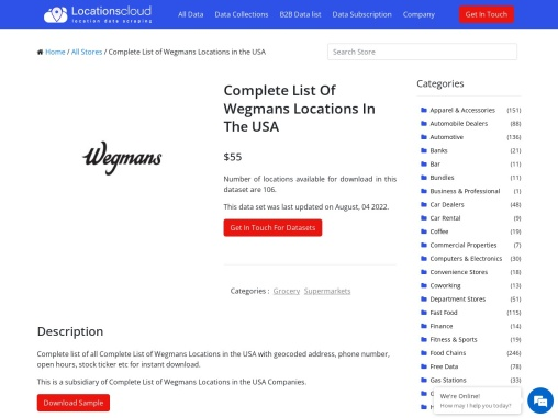 Complete List Of Wegmans Locations In The USA