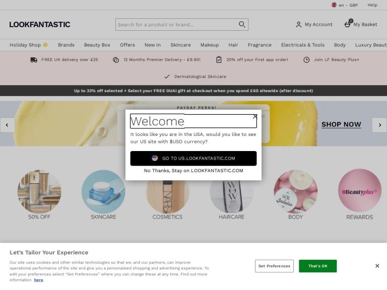Look Fantastic Discount Codes & Voucher Codes screenshot