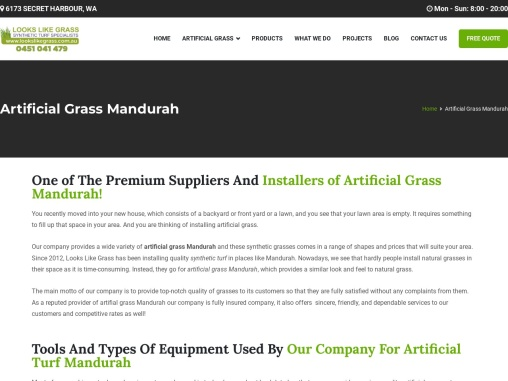 Make sure that you get the best artificial grass Mandurah installed by us